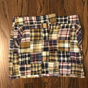 J. Crew Madras Plaid Skirt, Size 2